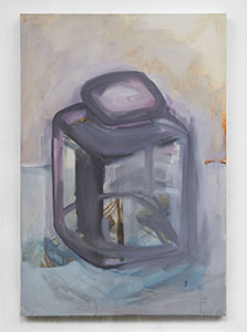 Homunculous jar 2013 48 x 71cm oil and Indian ink on canvas